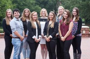 2016 to 2017 NC State PRSSA Executive Board