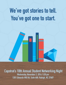 Capstrat 10th anniversary student networking night