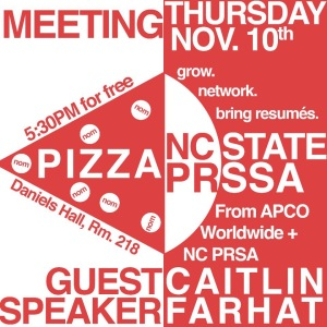 November NC State PRSSA Meeting